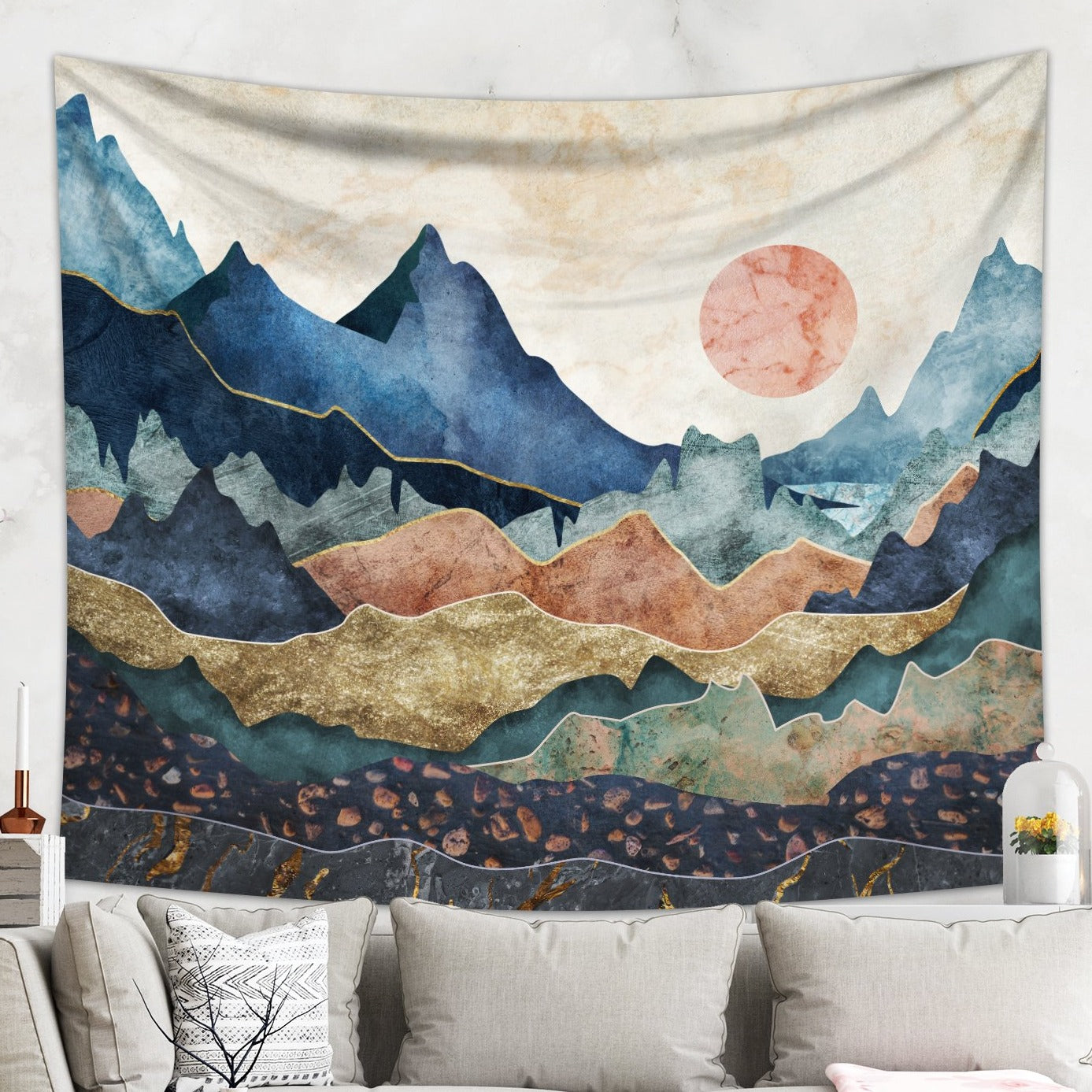 Scenic Mountain Tapestry - Landscape Wall Hanging | Brandless Artist