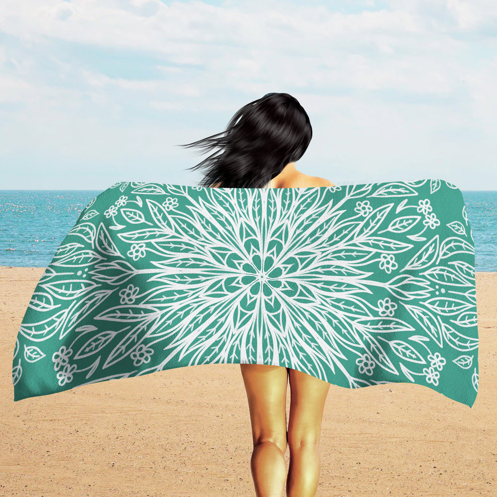 Mandala Beach Towel - Boho Beach Towel | Brandless Artist