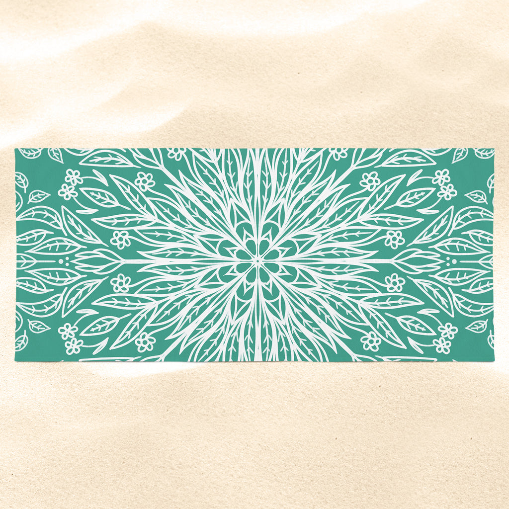 Green Mandala Beach Towel - Green Beach Towel | Brandless Artist