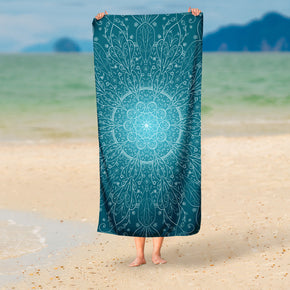 Mandala Beach Towel - Blue Beach Towel | Brandless Artist
