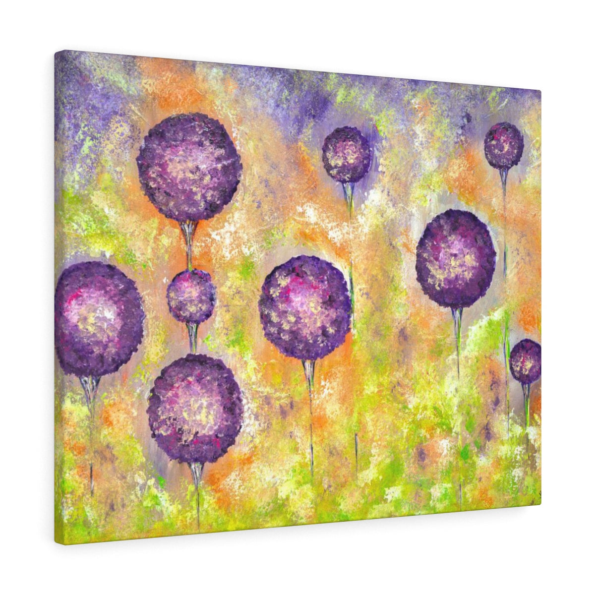 Flower Canvas Print - Purple Floral Painting | Brandless Artist