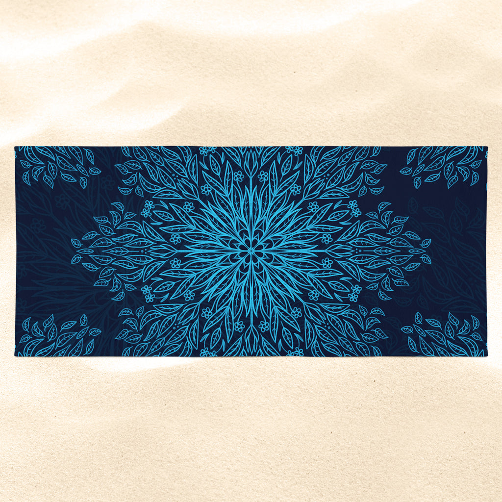 Blue Mandala Beach Towel - Blue Beach Towel | Brandless Artist
