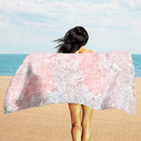 Pink Beach Towel - Pink Mandala Beach Towel | Brandless Artist