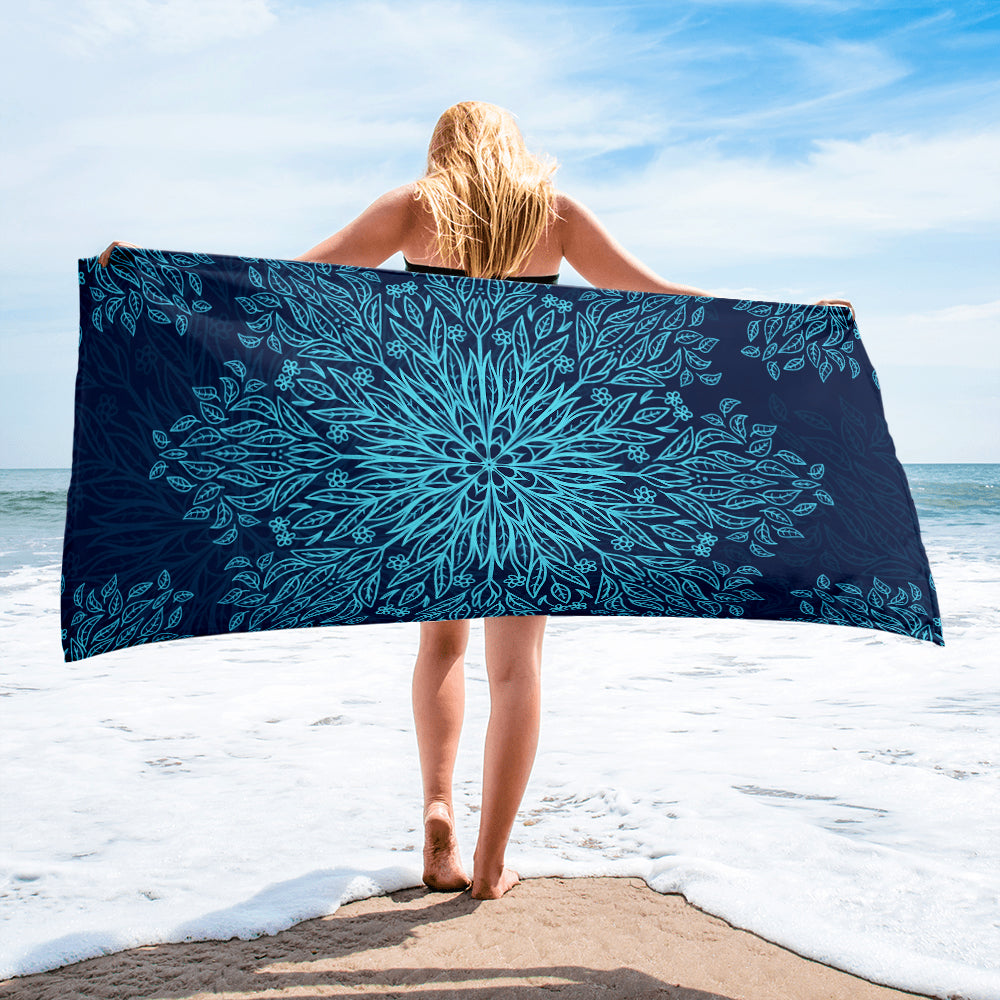 Blue Mandala Beach Towel - Huge Beach Towel | Brandless Artist