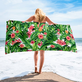 Tropical Beach Towel - Floral Beach Towel | Brandless Artist