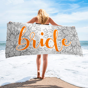 Bride Beach Towel - Custom Beach Towel | Brandless Artist