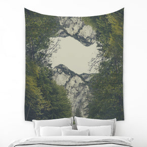 Beige Mountain Tapestry Large Nature Wall Decor with Photo | Brandless Artist
