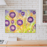 Purple Flower Canvas Print - Floral Painting | Brandless Artist
