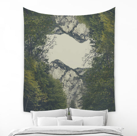 Beige Mountain Tapestry - Brandless Artist