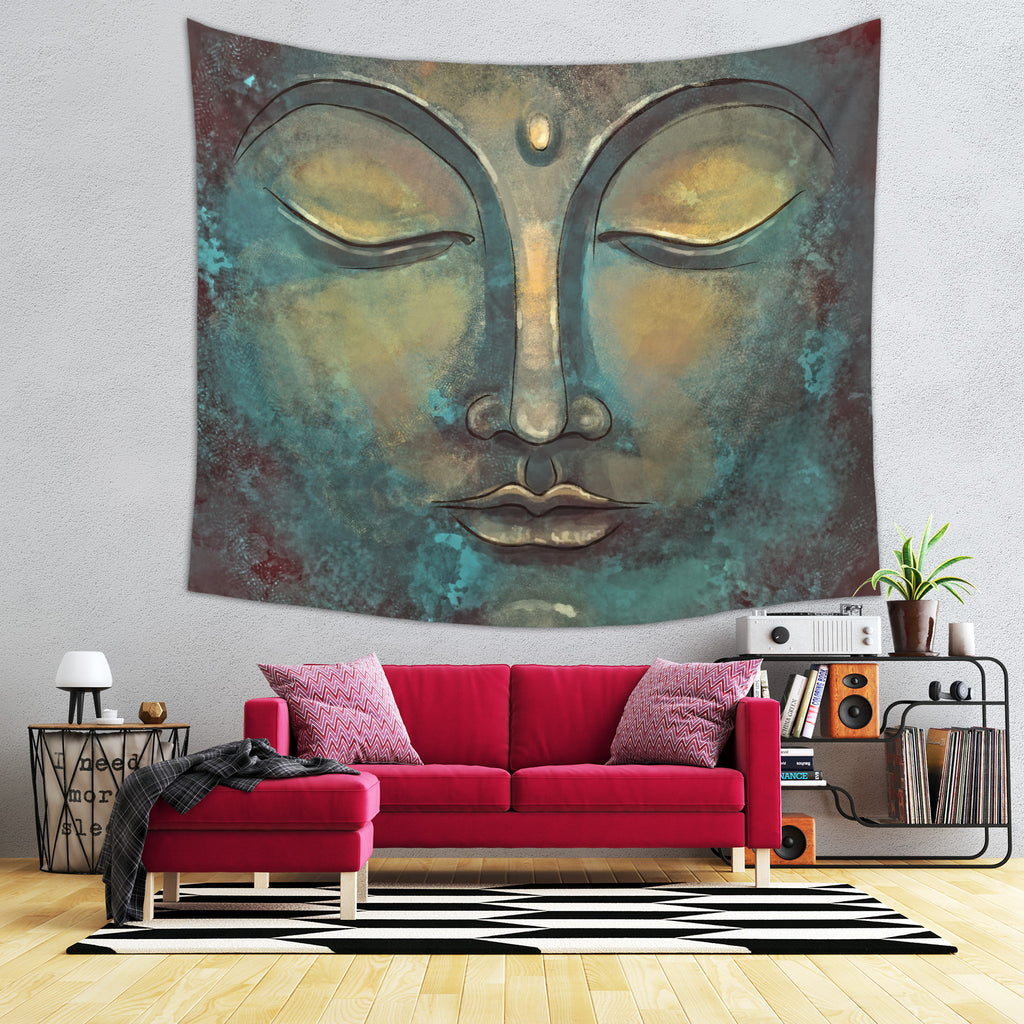 Buddha Tapestry - Rustic Meditation Home Decor for Zen Ambiance | Brandless Artist