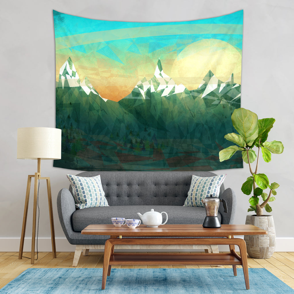Mountain Tapestry - Mountain Wall Hanging | Brandless Artist