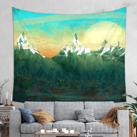 Green Mountain Tapestry - Mountain Wall Art | Brandless Artist