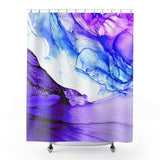 Aqua Shower Curtain Purple and Blue Bathroom Decor | Brandless Artist