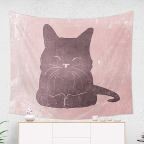Pink Cat Tapestry - Brandless Artist