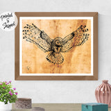 Owl Art Print - Flying Owl Drawing | Brandless Artist