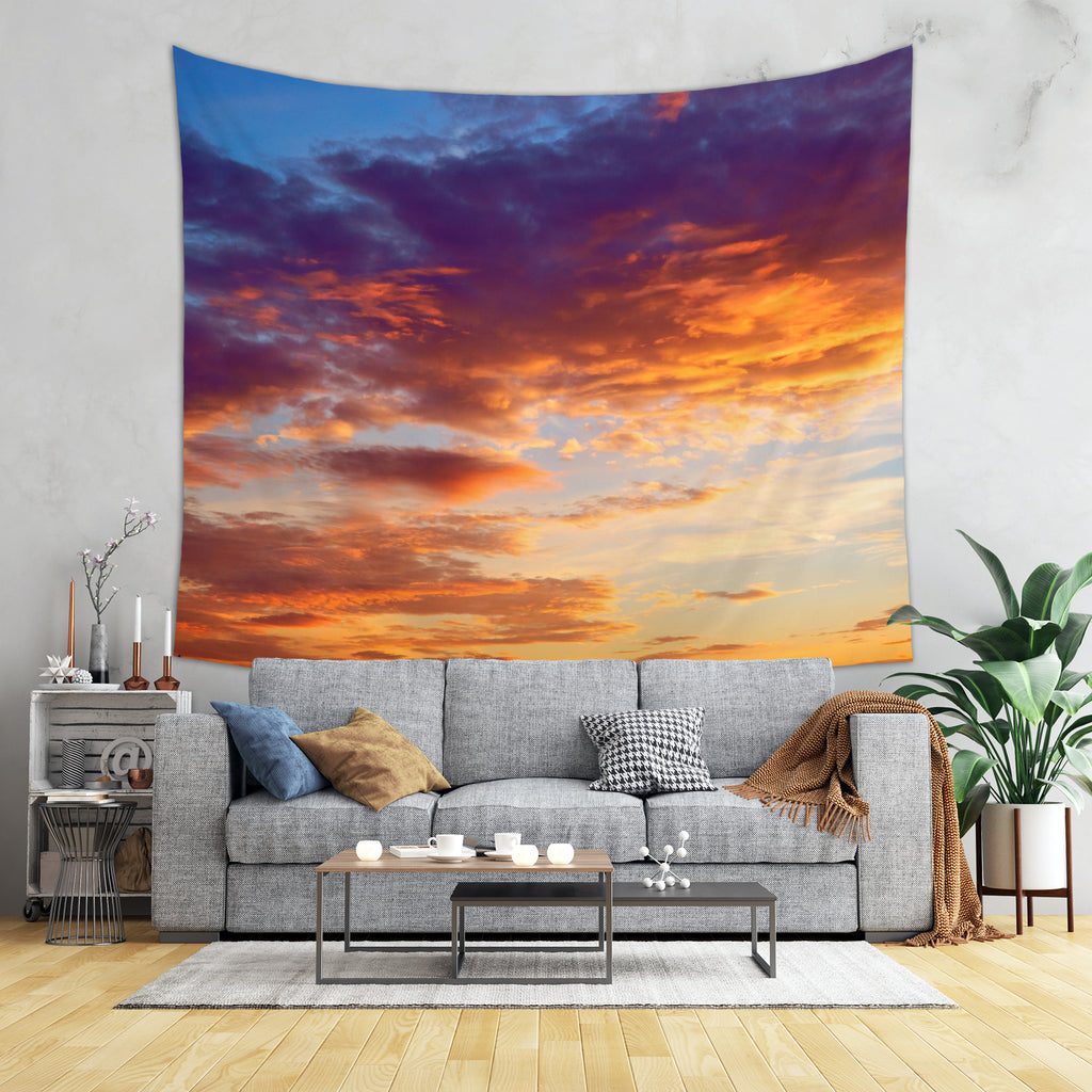Sunset Wall Tapestry - Purple Tapestry | Brandless Artist