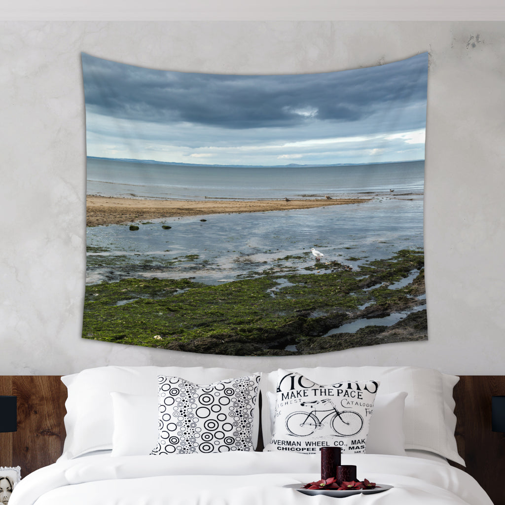 Rainy Beach Tapestry - Sea Tapestry | Brandless Artist