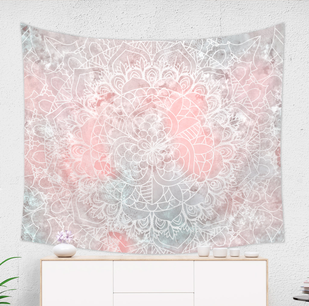 Pink Mandala Tapestry - Pink Home Decor | Brandless Artist