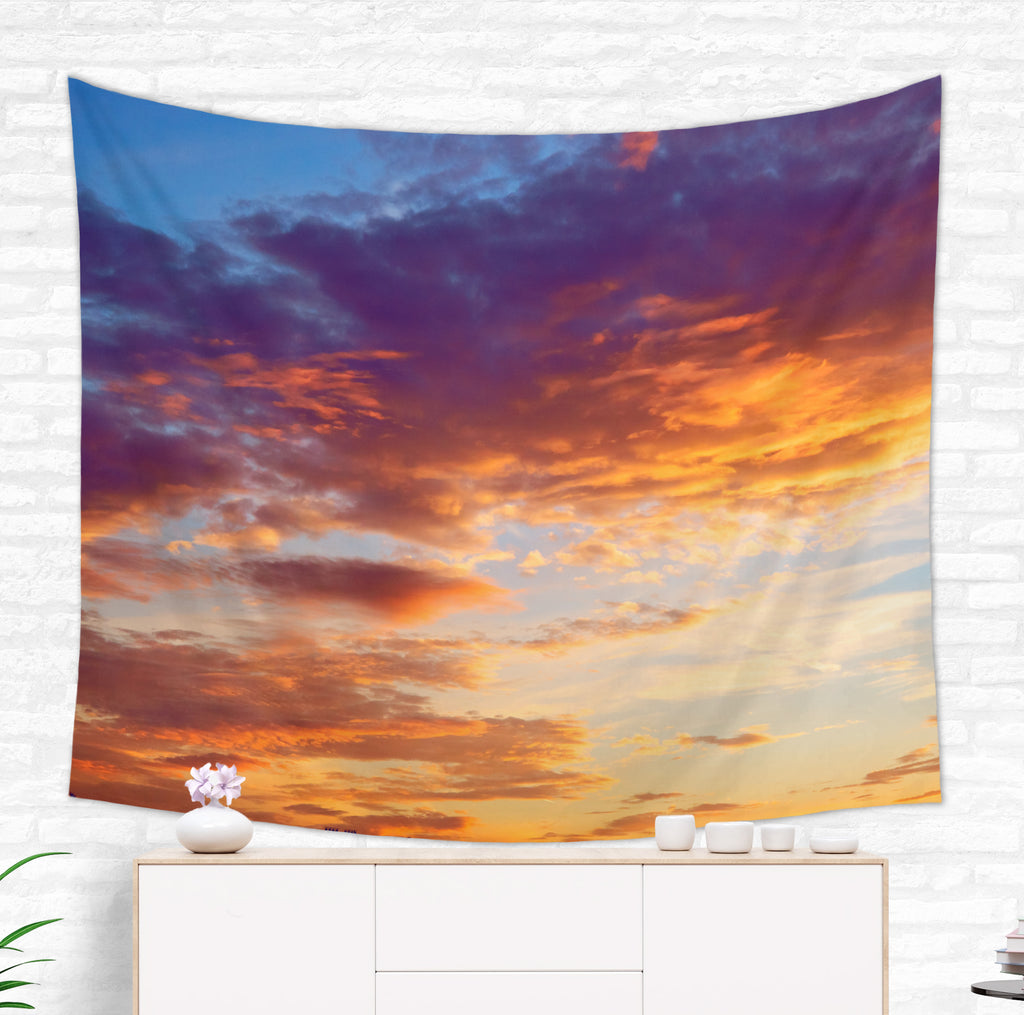 Sunset Tapestry - Colorful Sky Tapestry | Brandless Artist