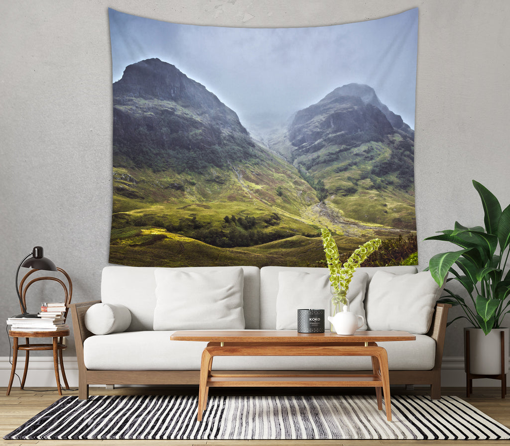 Sisters of Glencoe Wall Decor - Photo Tapestry | Brandless Artist