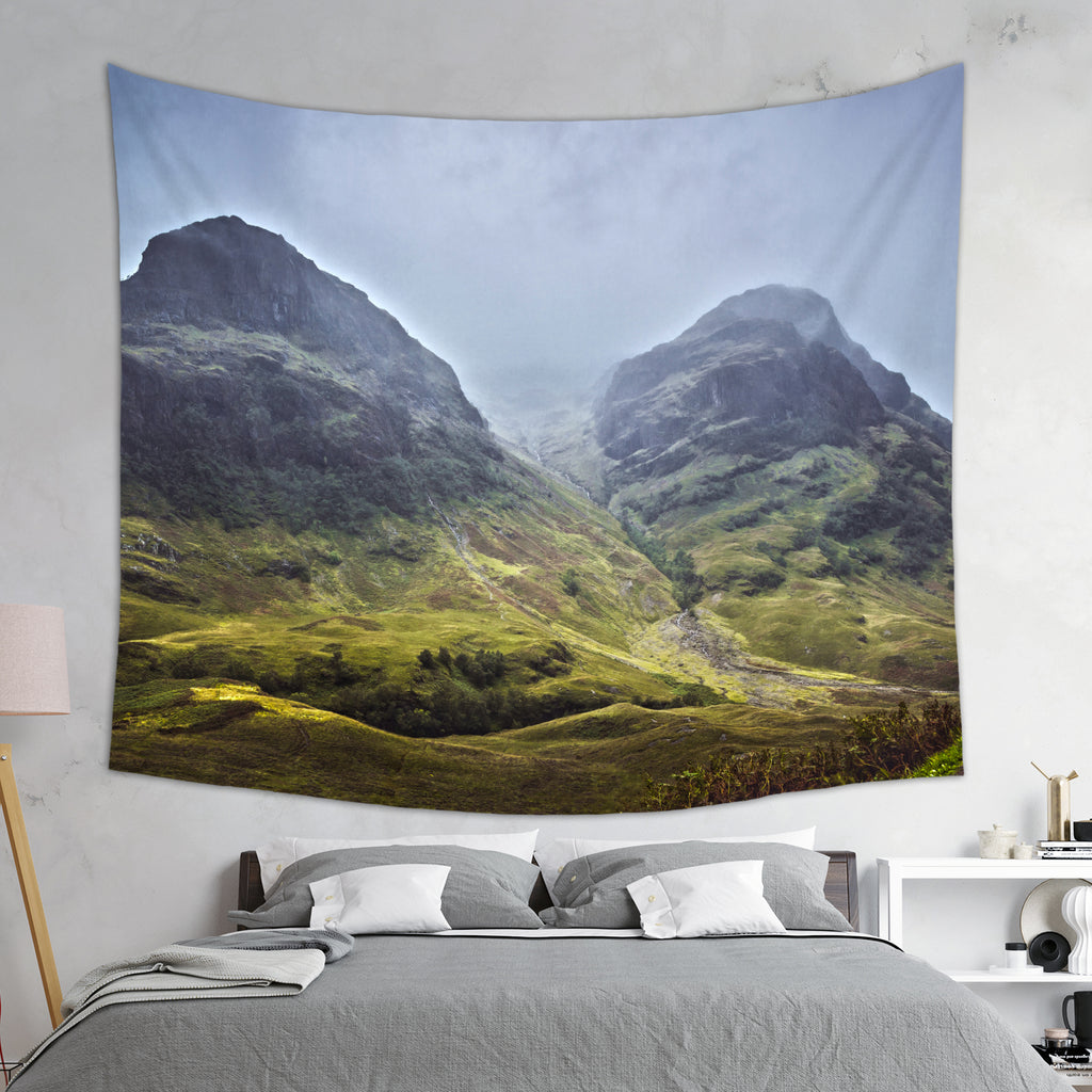 Sisters of Glencoe Tapestry - Mountain Tapestry | Brandless Artist