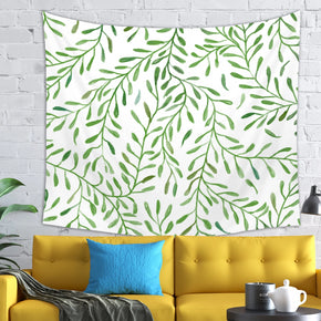Green Nature Tapestry - Leaf Pattern Decor | Brandless Artist