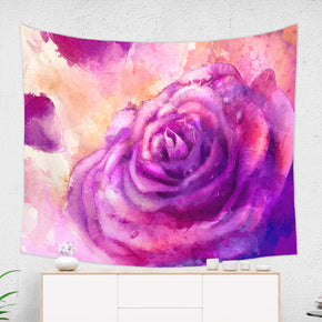 Pink Rose Tapestry - Brandless Artist