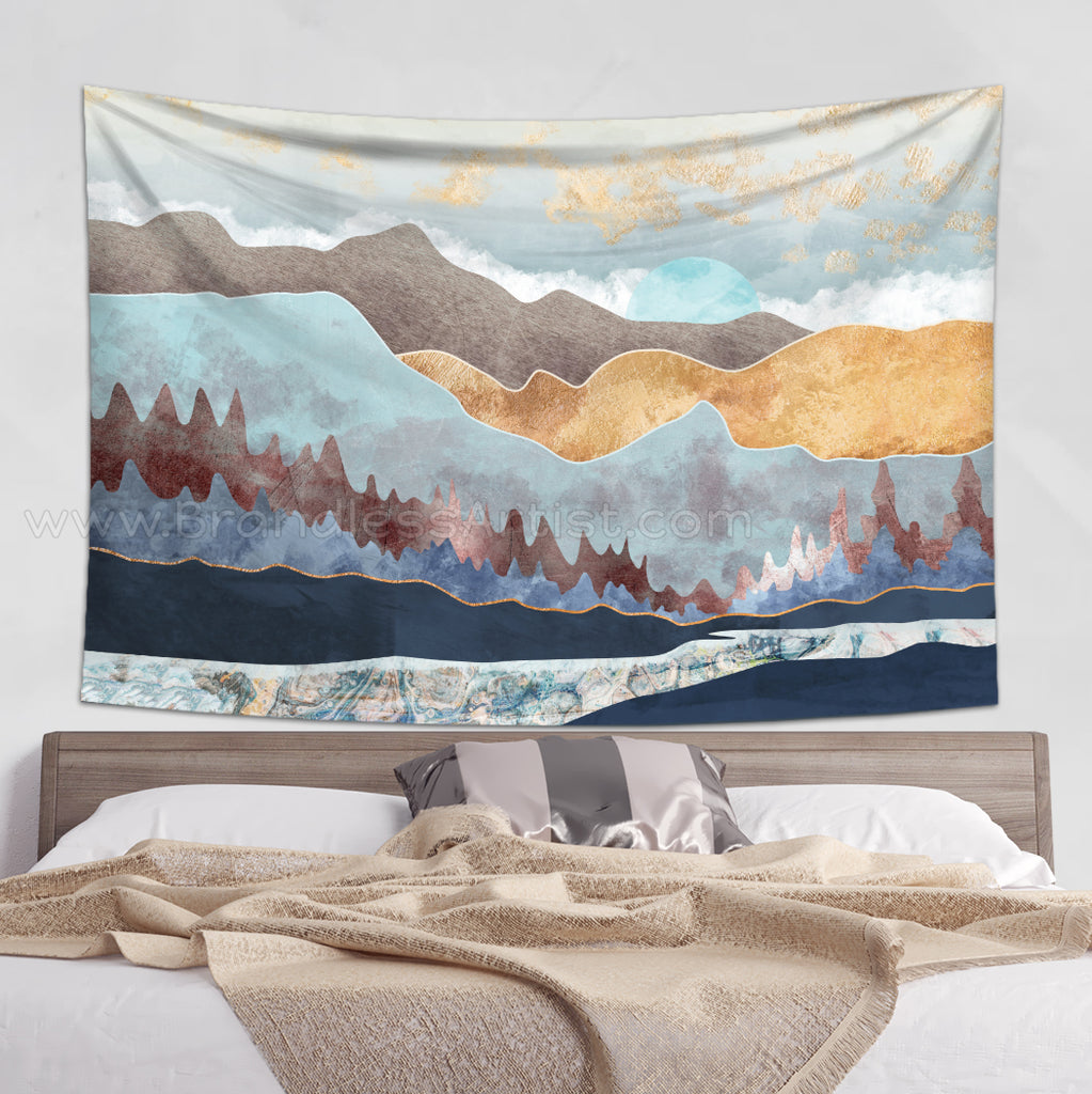 Scenic Tapestry Nature Wall Hanging - Sunset Decor | Brandless Artist