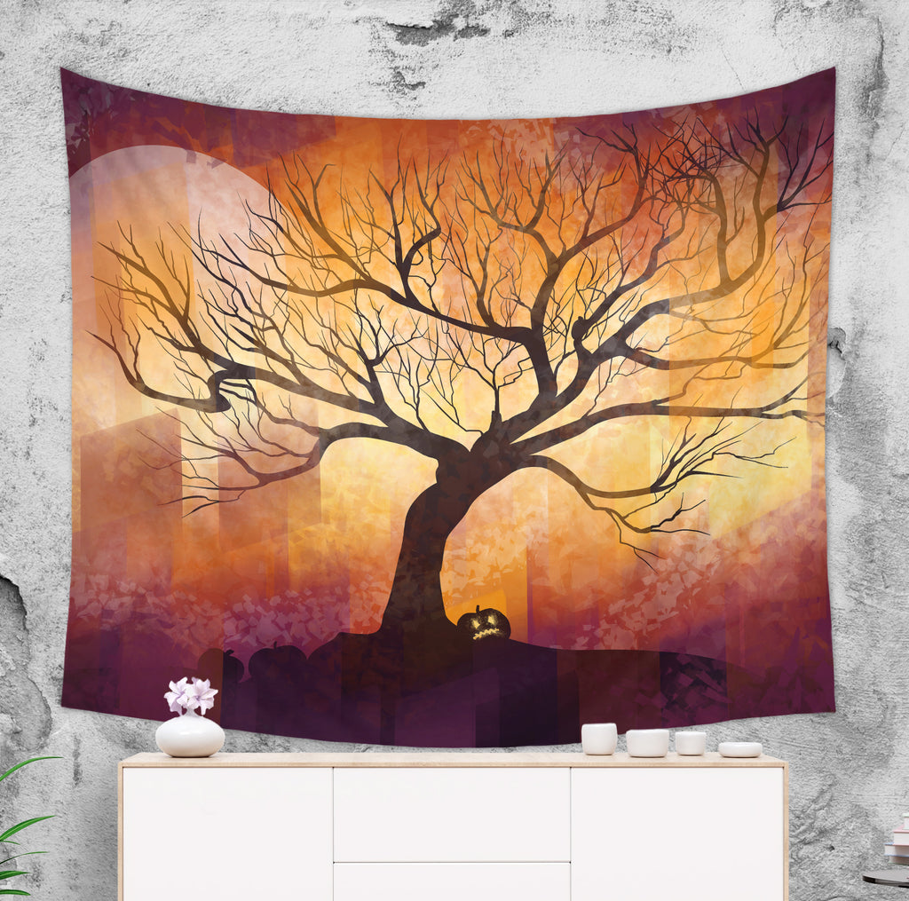 Halloween Tapestry For Kids With Tree and Pumpkin | Brandless Artist