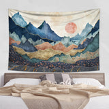 Scenic Mountain Tapestry - Hikers Gift Wall Hanging