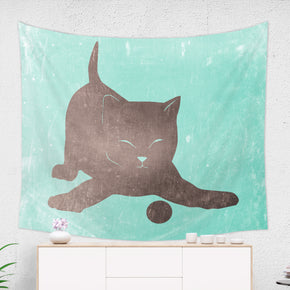 Playing Cat Tapestry - Brandless Artist