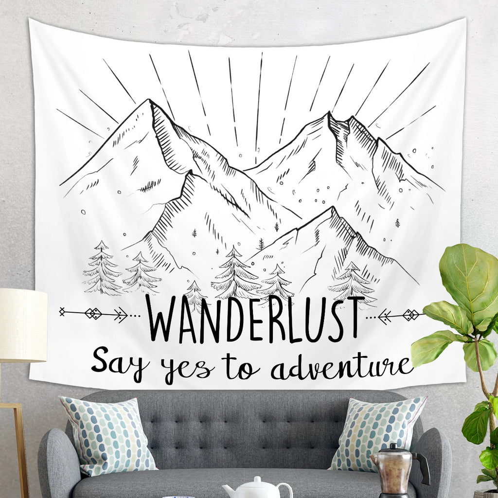 Wanderlust Tapestry - Say Yes to Adventure Decor | Brandless Artist