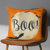 Halloween Thow Pillow for Kids with Bats in Orange Color | Brandless Artist