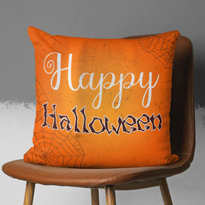 Happy Halloween Pillow - Orange Seasonal Decoration | Brandless Artist