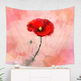 Poppy Tapestry - Red Floral Wall Hanging