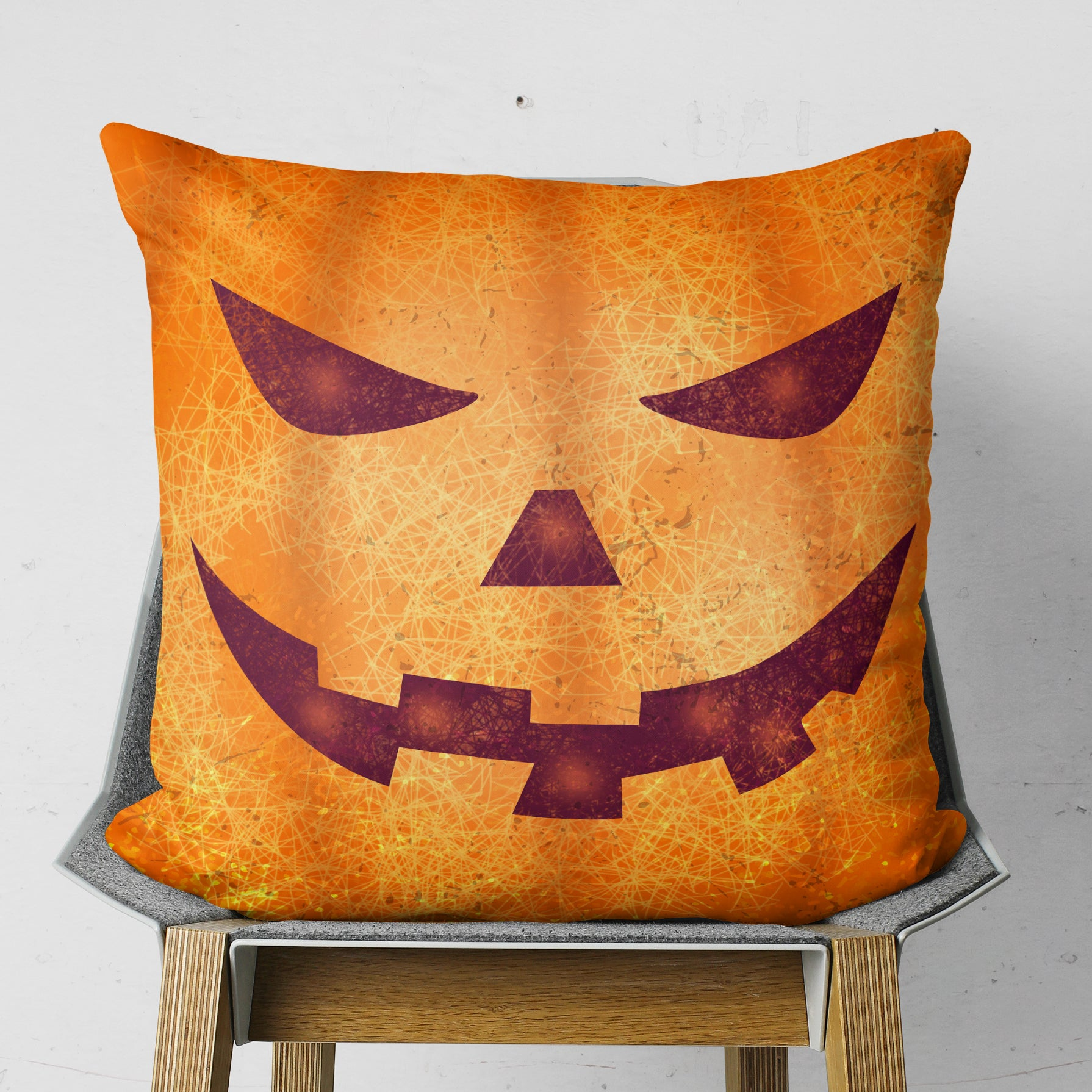 Pumpkin Halloween Pillow - Orange Season Cushion for Kids | Brandless Artist