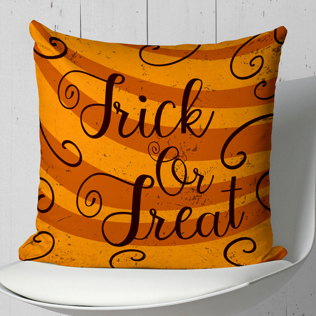 Trick or Treat Pillow - Orange Halloween Home Decor | Brandless Artist