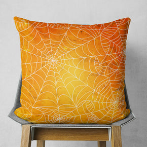 Spider Web Pillow - Orange Halloween Pillow Decor | Brandless Artist