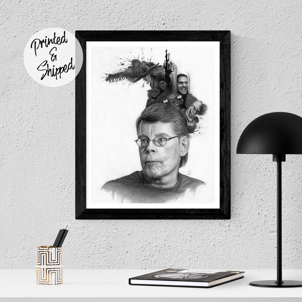 Stephen King Drawing Art Print - Stephen King Print | Brandless Artist