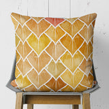 Boho Fall Square Throw Pillow from Polyester Fabric, Orange and Brown | Brandless Artist