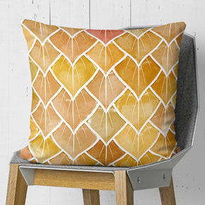Autumn Leaves Throw Pillow - Orange Fall Cushion | Brandless Artist