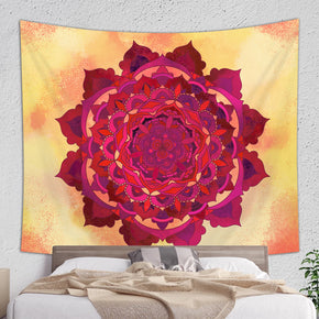 Orange Mandala Tapestry - Hippie Wall Hanging | Brandless Artist