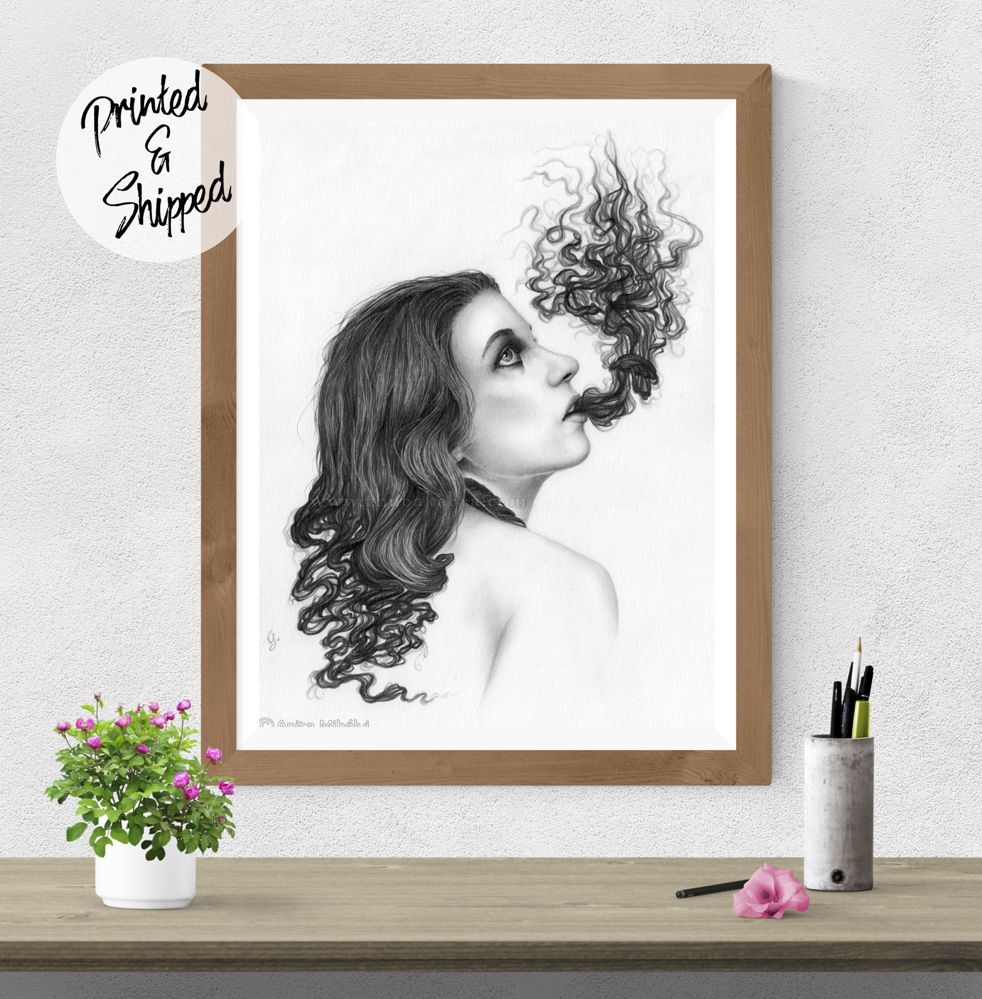 Surreal Girl Print by Thubakabra - Drawing Art Print | Brandless Artist