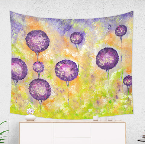 Purple Flower Tapestry - Brandless Artist