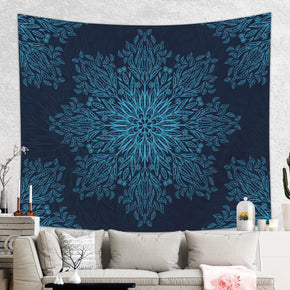 Dark Blue Mandala Tapestry for Boho Home Decor and Meditation Rooms | Brandless Artist