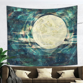 Moon Tapestry Starry Sky Wall Hanging for Dorm Room | Brandless Artist