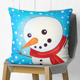 Snowman Pillow Cover Fun Winter Kids Room Decor | Brandless Artist