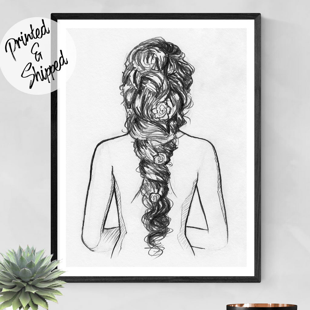 Nudeart Print - Nude Pencil Sketch | Brandless Artist