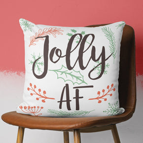 Funny Christmas Pillow - Jolly AF Festive Home Decor | Brandless Artist