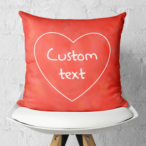 Custom Love Decorative Pillow Cover with Personal Quote Christmas Gift | Brandless Artist